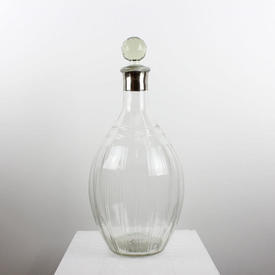 """18"""" Large Clear Line Cut Decanter with Stopper"""