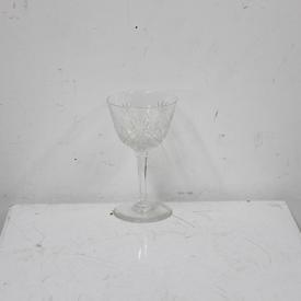 13Cm  Cut Glass White Wine Glass