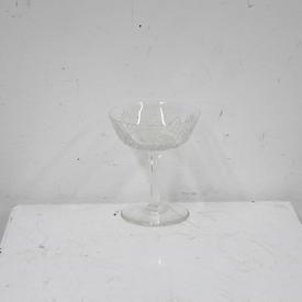 10Cm Cut Glass Champagne Saucer