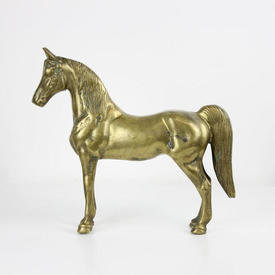 Brass Freestanding Horse