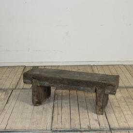 "3'4  x  13"" Rustic Wooden Bench"