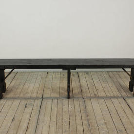 8Ft Dark Softwood Refectory Bench