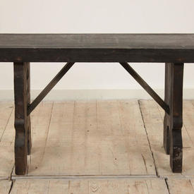3Ft Dark Softwood Refectory Bench