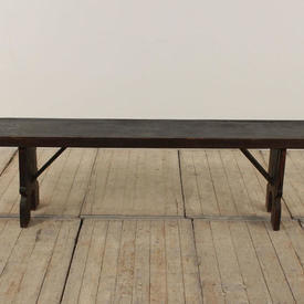 6Ft Dark Softwood Refectory Bench