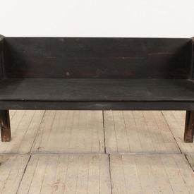 5' Dark Softwood Square Back & Sides Hall Bench