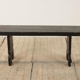 4Ft Dark Softwood Refectory Bench