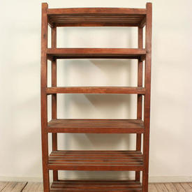 6' x 3' Wooden Slatted Open Bakers Shelf Unit with 6 Shelves