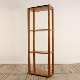 "6'6""  x  2'3"" Maple Art Deco 4 Tier Open Shelf Unit"