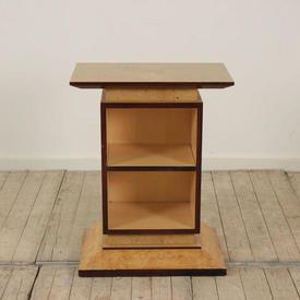 2'  Maple Art Deco Open Bookshelf