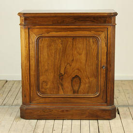 "3'  x  3'3"" Rosewood 1 Door Hall Cabinet with Key (W90Cm  x  H100Cm  x  D42Cm)"