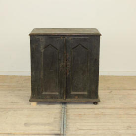 "2'5"" x  2'5"" Darkwood Panelled 2-Door Cupboard"
