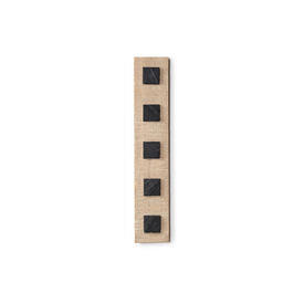 """Rect Carved Ash & Slate inlay """"RH"""" Wall Mounted Sculpture"""