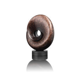 Brown Deco Round Trophy Sculpture