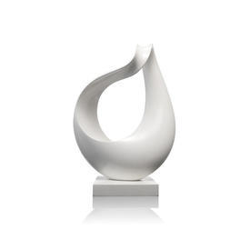 White Lacqured Abstract Sculpture