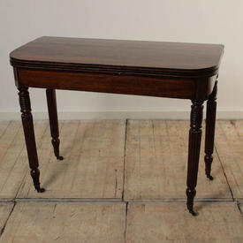 """3'2"""" Mahogany Victorian Folding Card Table"""
