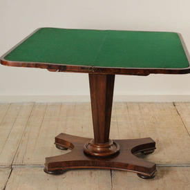 Rosewood Folding Victorian Card Table