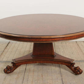 5' Circular Amboina Pedestal Centre Table