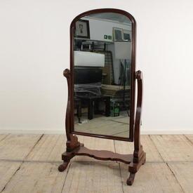 Mahogany Victorian Cheval Mirror