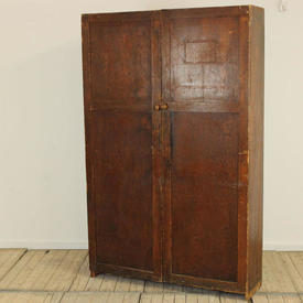 """6'7""""  x  4' Oak 2 Door School Cupboard"""