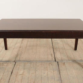 """3'11"""" x  2' Mahogany Coffee Table with Reed Legs"""