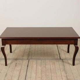 4' x  2' Mahogany Coffee Table on Cabriole Legs
