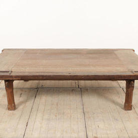 "6'2"" x  3'7"" Rustic Oak Slatted Coffee Table"