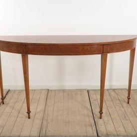 "5'3"" Burr Walnut Georgian Console Table"