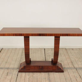 """4'6"""" Rosewood Deco Style Console Table"""