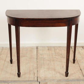 3' Mahogany Curved Console Table with Rosewood inlay