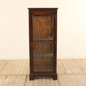 "4' x  1'8"" Mahogany & Glass Single Door Display Cabinet"