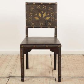 Hardwood & Brass Back Occ Chair