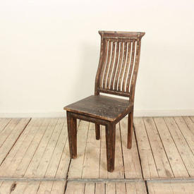 Hardwood & Brass Statted Back Occ Chair