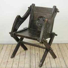 16Th Century Oak  x  Frame Chair