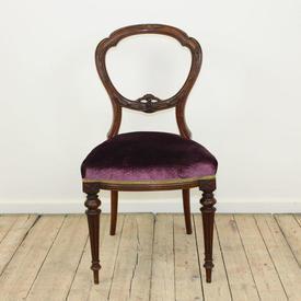 Mah Oval Back Vict Dining Chair Plum Velvet Seat