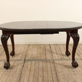 """5'7"""" Mahogany Queen Anne Dining Table with Ball & Claw Feet"""