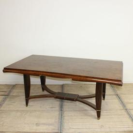 6' x  3' Burr Maple & Mahogany Deco Dining Table