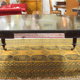 """6'10"""" x  4'10"""" Mahogany D-End Dining Table with 1 Leaf"""