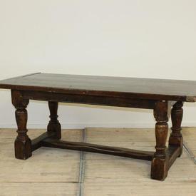 "6'6"" x  2'9"" Oak 2 Part Refectory Table"