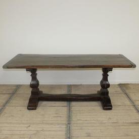 "6'6"" x  2'9"" Oak 2 Part Pedestal Based Refectory Table"