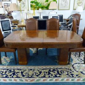 """8' x  3'6"""" Walnut Drawer Leaf Dining Table"""