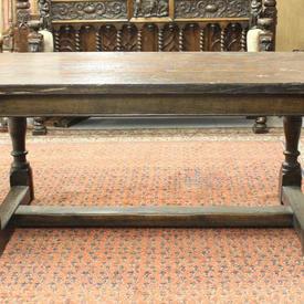 6' Oak 2 Part Refectory Table
