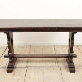 "5'4"" x  2'3"" Oak Refectory Table"