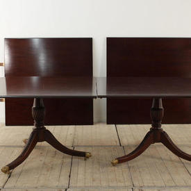 16' x  4' Mahogany Boardroom Table in 4 Sections with Clips & 4 Pedestals