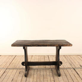 4'  x  2' Oak Rustic Refectory Table