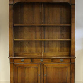 5' Cherrywood 2-Part French Provincial Style Dresser with Drawer & Cupboard Base + 3 Shelves