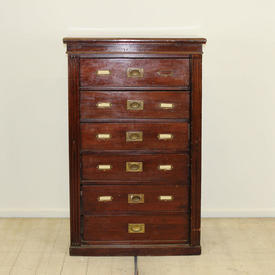 Mahogany 6 Drawer Wellington Filing Cabinet