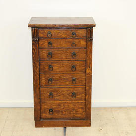 Oak 7 Drawer Wellington Filing Cabinet