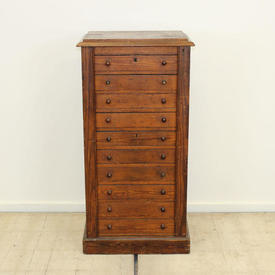 Stained Pine 10 Drawer Wellington Filing Cabinet