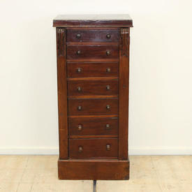 Dark Mahogany 7 Drawer Wellington Filing Cabinet with Wooden Handles
