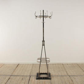 Chrome Deco Style Hat & Coat Stand